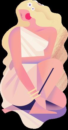 Illustration by Davey's of Virgo the Virgin
